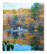 Peak Autumn Reflection 6 Fleece Blanket