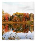 Peak Autumn Reflection 7 Fleece Blanket