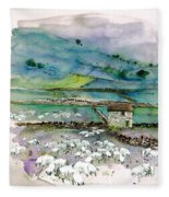 Peak District Uk Travel Sketch Fleece Blanket