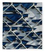 Pealing Paint Fence Abstract 1 Fleece Blanket