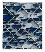 Pealing Paint Fence Abstract 3 Fleece Blanket