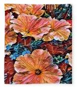 Peanies Flower Blossom Fleece Blanket