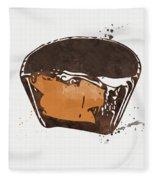 Peanut Butter Cup Fleece Blanket