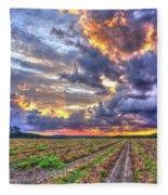 Peanuts, Clouds And Sun Fleece Blanket
