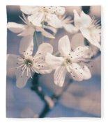 Pear Blossoms 4 Fleece Blanket