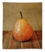 Pear On Cutting Board 1.0 Fleece Blanket