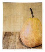 Pear On Cutting Board 2.0 Fleece Blanket