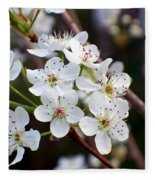 Pear Tree Blossoms II Fleece Blanket