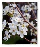 Pear Tree Blossoms IIi Fleece Blanket