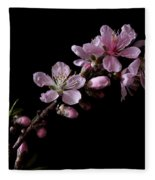 Peach Tree Blossum Fleece Blanket