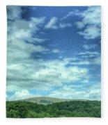 Pearisburg Virginia View Fleece Blanket