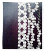 Pearls Fleece Blanket