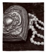 Pearls From The Heart - Sepia Fleece Blanket