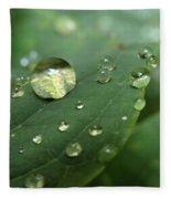 Pearls On Leaf 5 Fleece Blanket