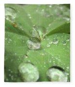 Pearls On Leaf Fleece Blanket