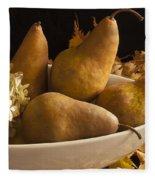Pears And Hydrangea Still Life  Fleece Blanket