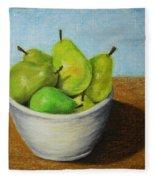 Pears In Bowl 2 Fleece Blanket