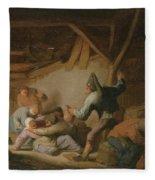 Peasant Brawl In A Tavern Fleece Blanket