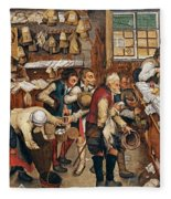 Peasants Paying Tithes By Pieter Bruegel I Fleece Blanket