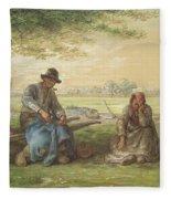Peasants Resting Fleece Blanket