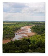 Pease On The River Fleece Blanket