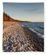 Pebble Beach Autumn    Fleece Blanket