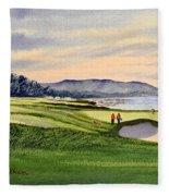 Pebble Beach Golf Course 9th Green Fleece Blanket