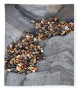 Pebble Beach Rocks 8787 Fleece Blanket