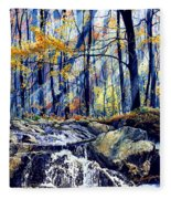 Pebble Creek Autumn Fleece Blanket