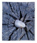 Pebble On The Star In The Log Fleece Blanket