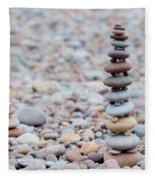 Pebble Stack II Fleece Blanket