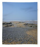 Pebble Strewn Beach Fleece Blanket