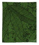 Pecan Tree Leaves Fleece Blanket