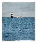 Peck Ledge Lighthouse Fleece Blanket