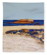 Pedersen Beach Lake Superior Fleece Blanket