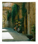 Pedestrian Walkway, Orvieto, Umbria Fleece Blanket