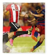 Pedro Rodriguez Kicks The Ball  Fleece Blanket