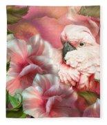 Peek A Boo Cockatoo Fleece Blanket
