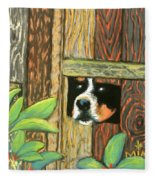 Peek-a-boo Fence Fleece Blanket