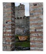Peek Into The Past - Pompeii Fleece Blanket