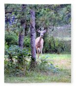 Peekaboo Deer Fleece Blanket