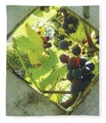 Peeking At Grapes Fleece Blanket
