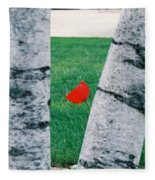 Peeking Tulip Fleece Blanket