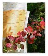 Peeling Bark Of White Birch Tree Fleece Blanket