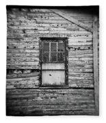 Peeling Wall And Cool Window At Fort Delaware On Film Fleece Blanket