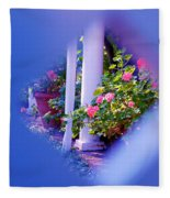 Peeping Trough The Fence Fleece Blanket