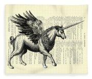 Pegasus Black And White Fleece Blanket