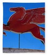 Pegasus Oil Sign Fleece Blanket