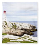 Peggy's Cove Fleece Blanket
