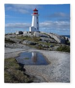 Peggys Cove Nova Scotia Canada Fleece Blanket